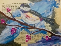 """""""Winter Birds and Berries"""" Collage"""