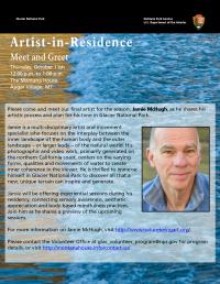 Meet Glacier's Final 2018 Artist-in-Residence
