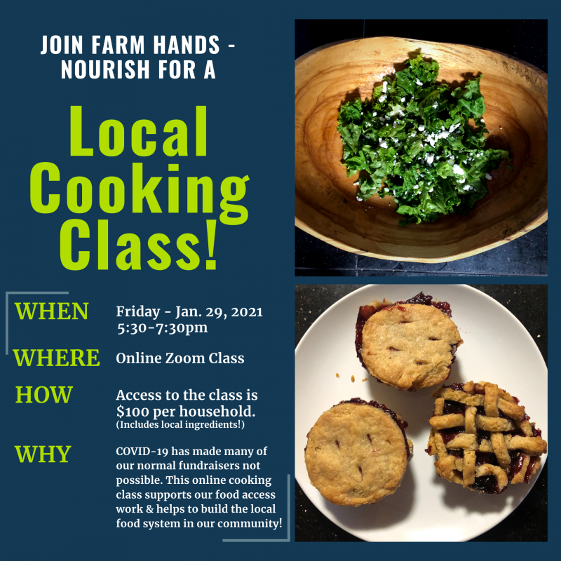 Remote Adult Cooking Class Fundraiser