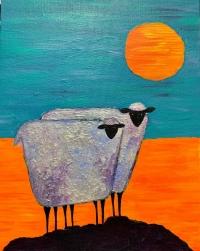 Canvas & Cocktails: Goats On A Rock