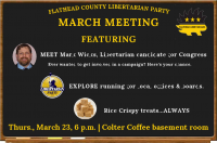 Flathead County Libertarian Party March Meeting