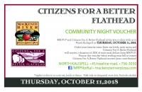 MacRiver Community Night:Citizens for a Better Flathead
