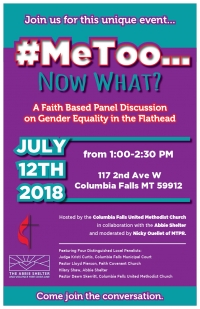 #MeToo... Now what:  A Faith Based Panel Discussion