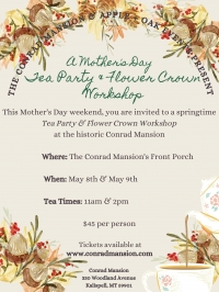 A Mother's Day Tea Party & Flower Crown Workshop