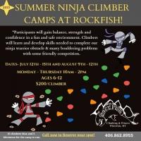 RockFish Summer Ninja Climber Camps