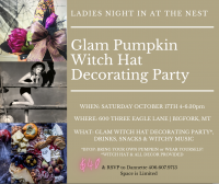 Glam Witch Hat Decorating Party at The Nest
