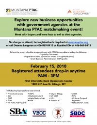 Montana PTAC Matchmaking Event