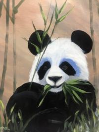 Panda, Tipsy Brush Painting Party