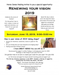 Renewing Your Vision 2019 Day with Horses