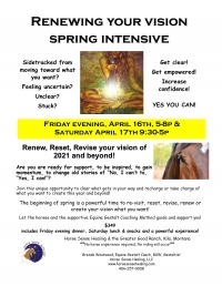 Renewing Your Vision Spring Intensive