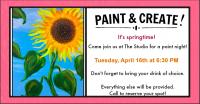 Paint & Sip at The Studio Bigfork!