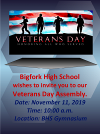 Veterans Day Assembly at Bigfork High School
