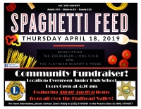 Spaghetti Feed to Benefit the Sheriff's Posse