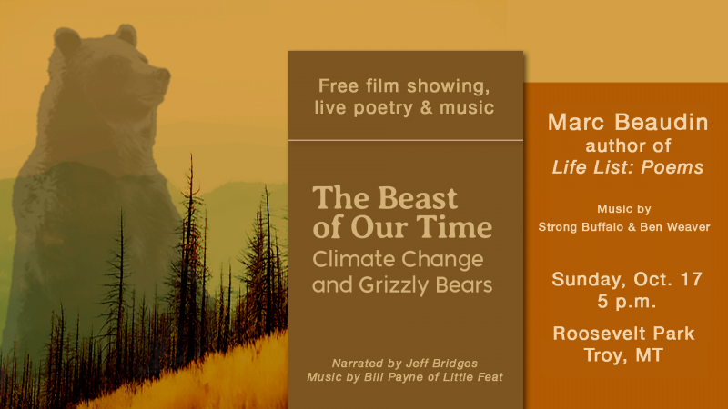 Beast of Our Time film, with poet Marc Beaudin.