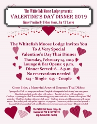 Valentines Day Dinner @ The Moose.!!