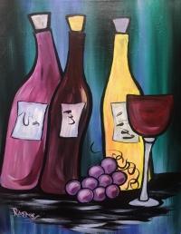 Vino, Tipsy Brush Painting Party, Kalispell
