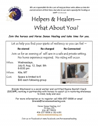 What About You? Helpers, Healers & Horses