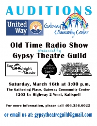 AUDITIONS - Old Time Radio Show Fundraiser