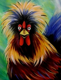 Crazy Rooster, Tipsy Brush Painting Party, Kalispell