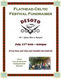 Flathead Celtic Festival Fundraiser at Desoto Grill