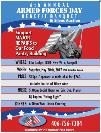 6th Annual Armed Forces Day Benefit Banquet & Auction
