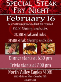 Steak Fry Night plus Trivia