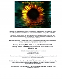 HypnoSound Sensations: Music, Movement and Meditation