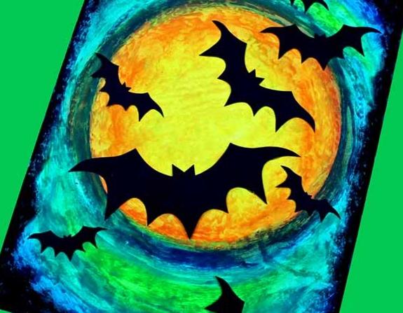 Canvas & Cookies: Bats & Moon