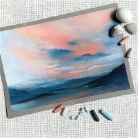 pastel Pointers: Colorful Skies