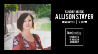 Sunday Music with Allison Stayer