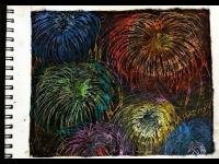 Canvas & Cookies: Scratch Art Fireworks