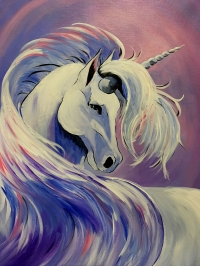 Unicorn paint party at Tipsy Brush!