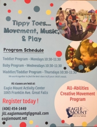 Tippy Toes Movement, Music, & Play (Waddler/Toddler Program)