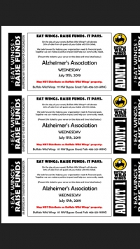 Buffalo Wild Wings Fundraiser to end Alzheimer's