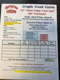 Cripple Creek Golf Tournament