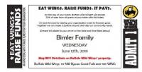 Bimler Family - Eat Wings & Raise Funds