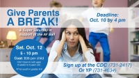Give Parents a Break/Super Saturday