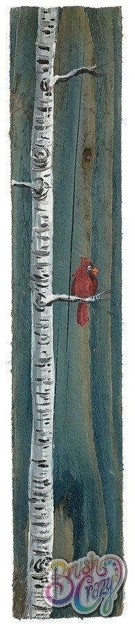 Cardinal on Single Aspen Painting Class