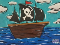 Pirate Ship Painting - Kids Class