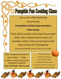 Pumpkin Cooking Class