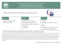 Panda Express Fundraiser Russell Country Relay for Life