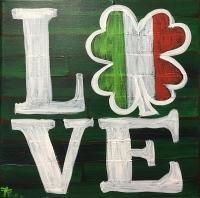 LOVE Shamrock - Guided Open Paint