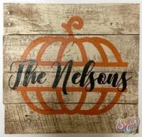 Pumpkin Name Sign