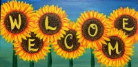 Sunflower with Words