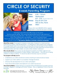Circle of Security Parent Workshop