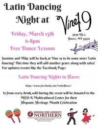 Latin Dancing Night at Vine 19