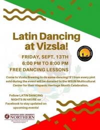 Latin Dancing at Vizsla