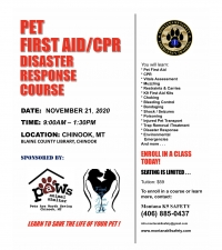 Pet First Aid, CPR and Disaster Response