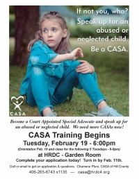 CASA Training (Court Appointed Special Advocates)