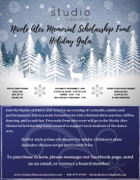 Holiday Gala- Nicole Alex Scholarship Fundraiser